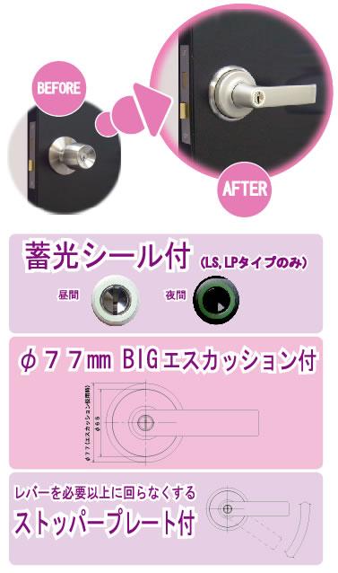 AGENT 大黒製作所 取替用レバーハンドル LS-100 LS-200